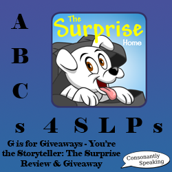 ABCs 4 SLPs: G is for Giveaways - You're the Storyteller: The Surprise Review and Giveaway image