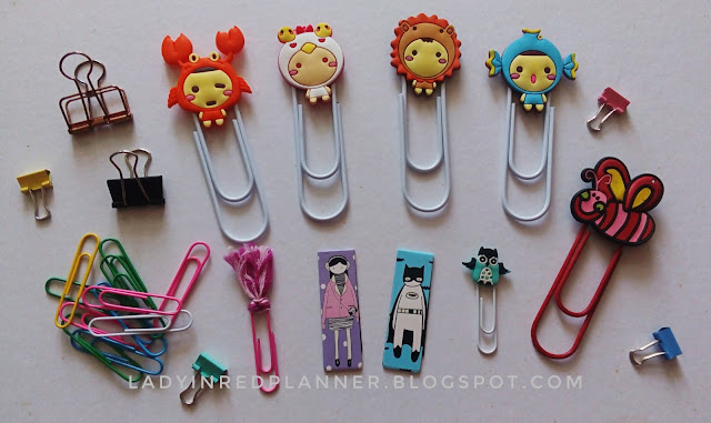 Cute paper clips for planner