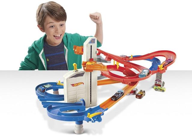 Đồ chơi Mô hình Thành phố Đường đua Hot Wheels City Auto Lift Expressway CDR08