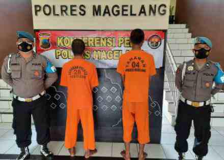 Tiga Pelaku Pencurian dan Kekerasan Berhasil Ditangkap Polres Magelang