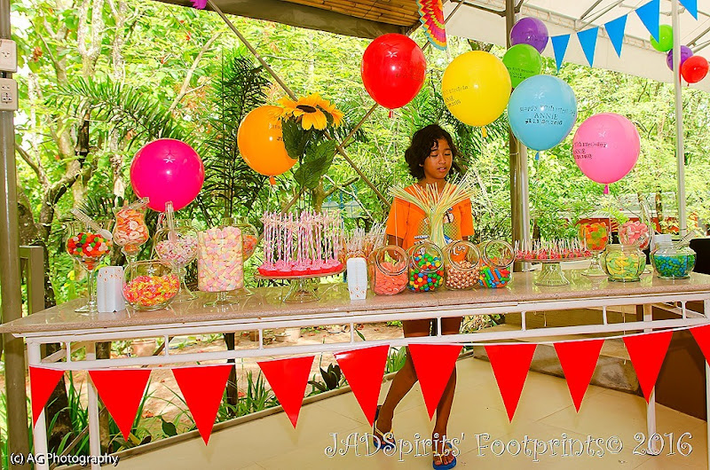 My daughter Daniz at the candy bar in Plantationville Resort