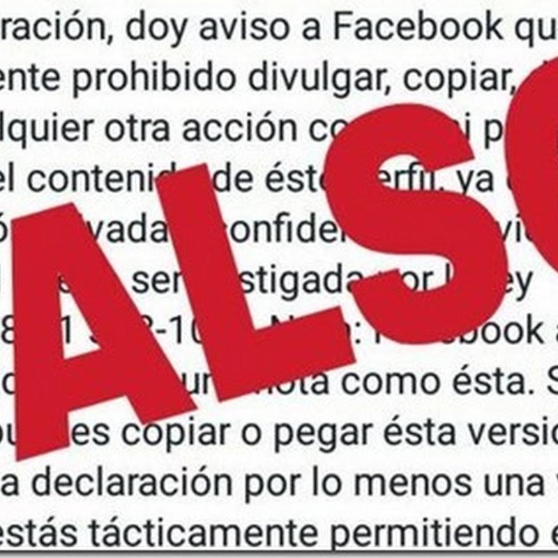 Otro bulo sobre la Privacidad de Facebook
