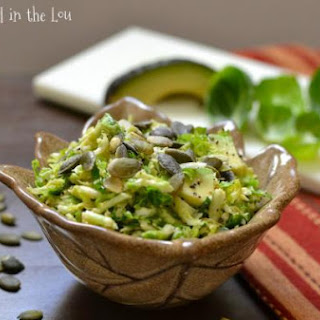 Brussels Sprout Salad with Avocado and Toasted Pepitas