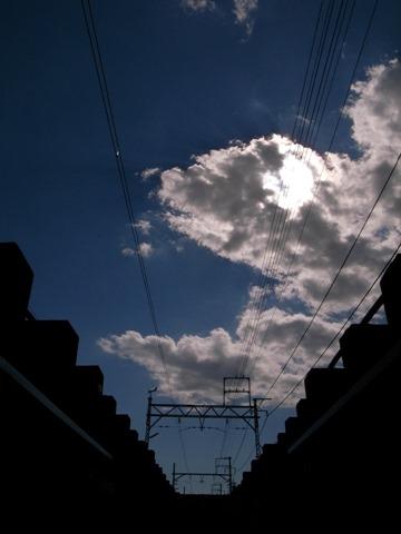 線路の間写真鉄道撮り鉄