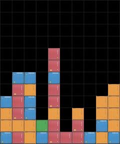 김도균(Kim Dokyun), lu.gre-01, pigment print-mounted on plexiglas,     60×72cm, 2010 김도균의〈Line-up〉은 '줄서기를 하다'라는 뜻이기도 하고, 게임의 제목이기도 하다. 이는 아이폰에서 내려 받은 게임의 한 장면을 캡처해서 재미있는 형태가 나오면 그 모양대로 색색깔의 컨네이터 면을 블록처럼 쌓은 작품들로써, 작가가 수용한 새로운 시각을 보여주기 충분하다. 그는 다양한 미디어에서 본 자극들을 현실의 공간에 투사하여 새로운 시각적 이미지를 만들어내는 작업을 하고 있다.