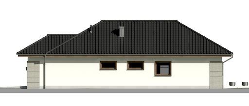 Dom przy Pastelowej 15 bis - Elewacja prawa