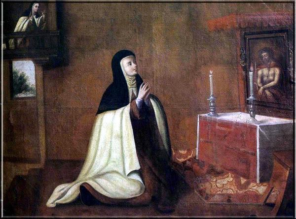 Segunda conversión de Santa Teresa. Convento del Carmen. Santiago de Chile (1694)