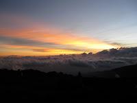 Kili Climb Day 2 - Sunset