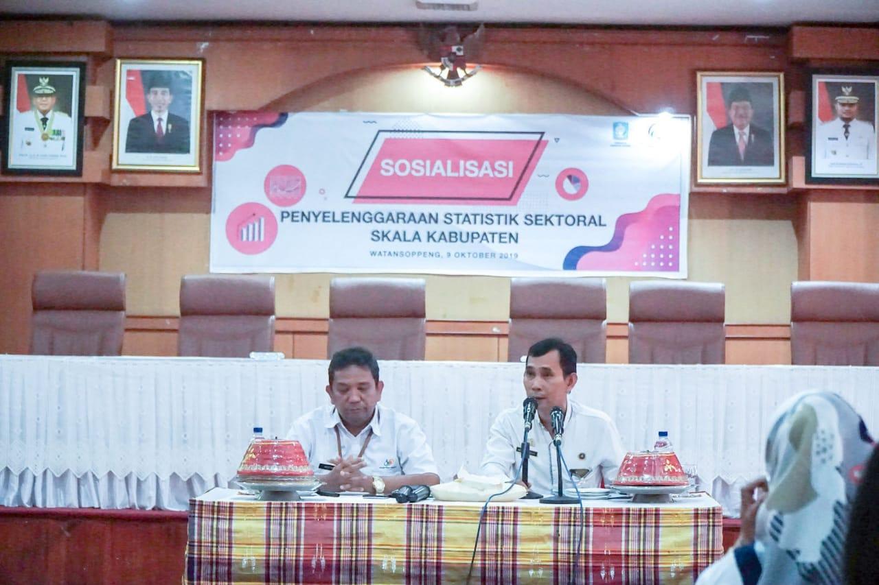 Sekretaris Dinas Kominfo Soppeng Buka Gelaran Statistik Skala Kabupaten Pemkab Soppeng TA 2019