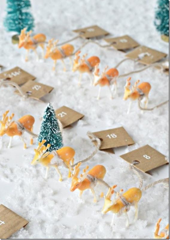 Calendario dell'Avvento: le renne di Babbo Natale