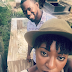 Late Bukky Ajayi's son visits his mum's grave side with Nollywood actress fiancee Yvonne Jegede... photos