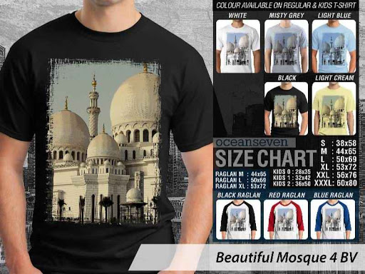 Kaos Muslim Islam Beautiful Mosque 4 distro ocean seven