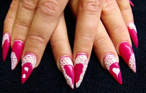 10 Best Valentines Day Acrylic Nails Art Designs 2016 Fashionte