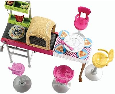 Bộ bàn ghế làm bánh Barbie Sisters Fun Day Pizzeria