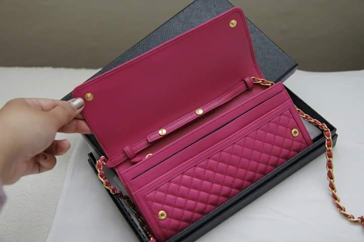 57c83afe475f Prada Quilted Leather Wallet On A Chain | Stanford Center for ...
