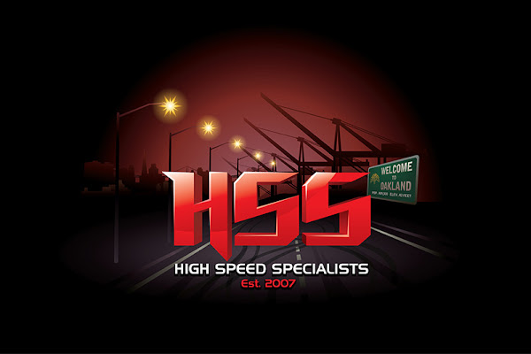 high speed specialists logo design