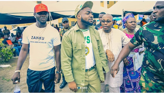Celebrity Corpers:Davido Spotted In The Same NYSC Camp With Broda Shaggi (Watch Video)