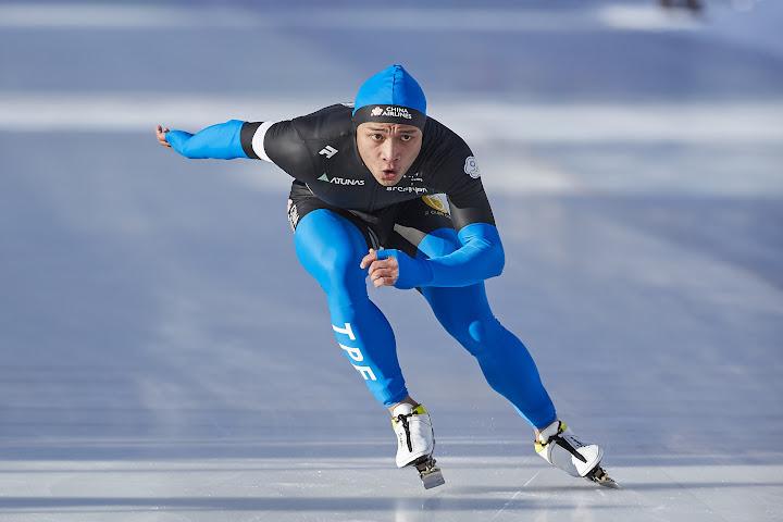 宋青陽競速滑冰世大錦奪銀。(艾格斯運動攝影提供)