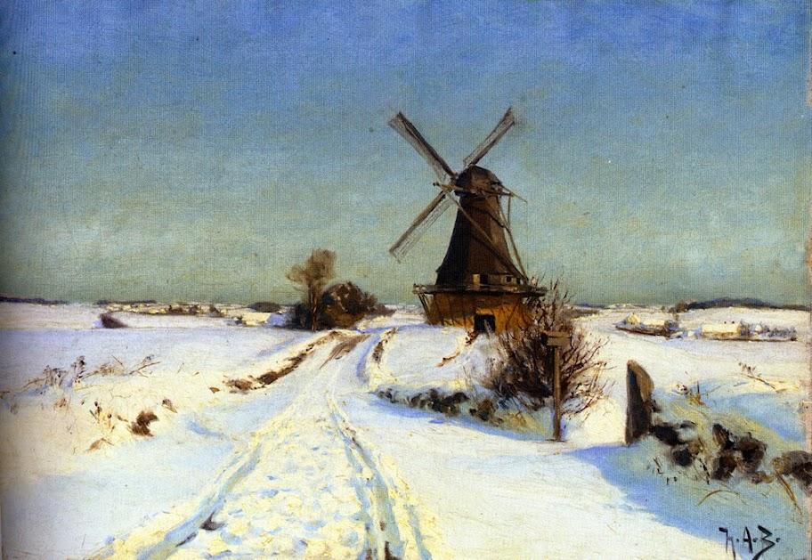Hans Andersen Brendekilde - A Windmill