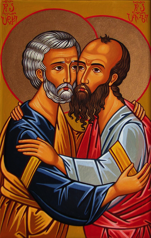 Ss Peter & Paul - depicted as friends.