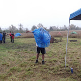 Too hot for all that yellow raingear....lets try a blue plastic poncho.