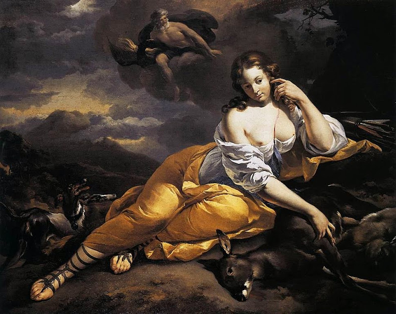 Nicolaes Pietersz. Berchem - Jupiter Notices Callisto