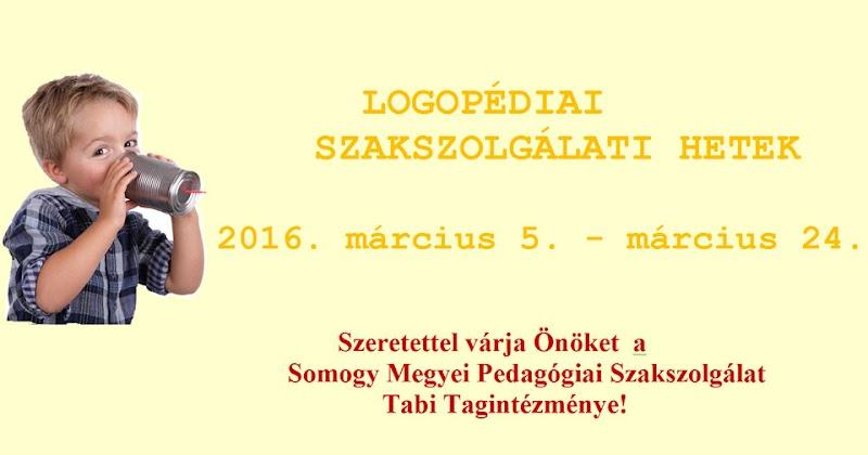 Logopédiai Szakszolgálati Hetek - Tab 2016