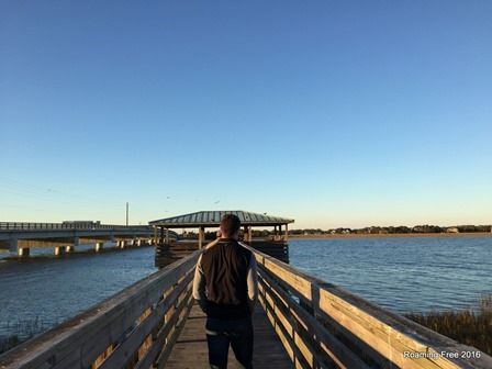 Walking out on the pier