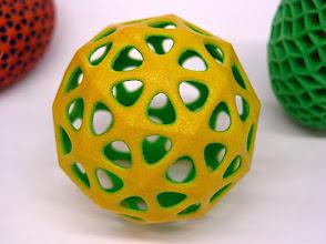 Photo: A tessellated icosahedron.