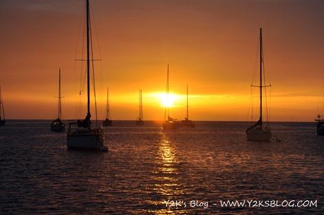 Splendido tramonto a Grand Anse d'Arlet