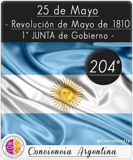 25 de Mayo: Revolución de Mayo de 1810 - 1° Junta de Gobierno