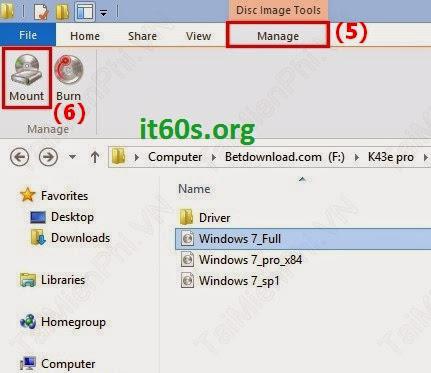 Thủ thuật mở file ISO trên windows 8 không cần phần mềm 4