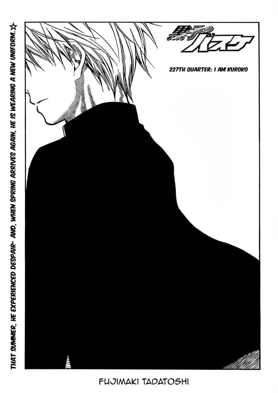 Kuroko no Basket Manga Chapter 227 - Image 01
