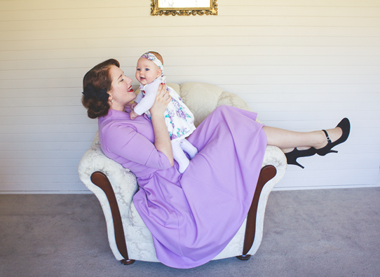 Vintage style for baby and mother | Lavender & Twill