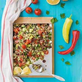 Mediterranean Bulgur & Lentil Lunch Salad.