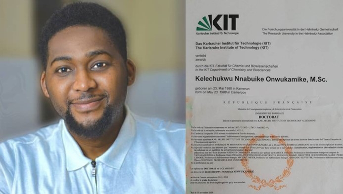 See Nigerian man who bags 2 PhDs from foreign Universities 12years after being mocked by his chemistry teacher.