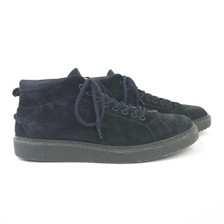 Barneys New York Navy Blue Suede Ankle Boots