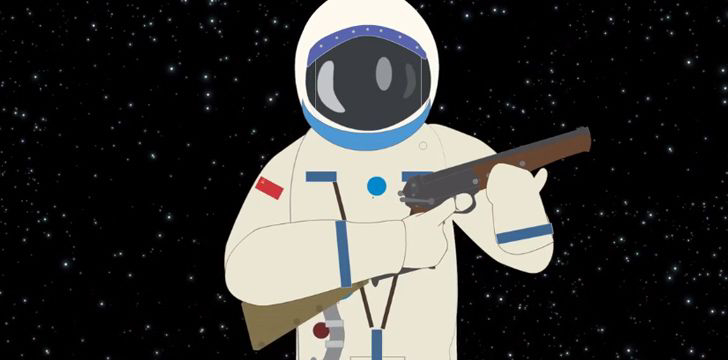 Soviet Cosmonauts took shotguns to space with them.