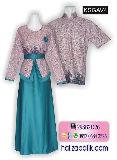 motif batik pekalongan, model baju batik masa kini, baju muslim