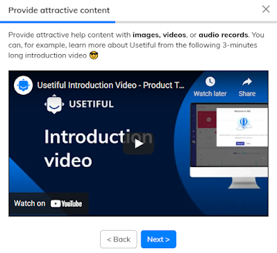 Usetiful instructional video