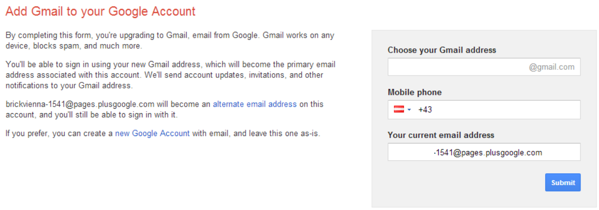 Upgrade to GMail
