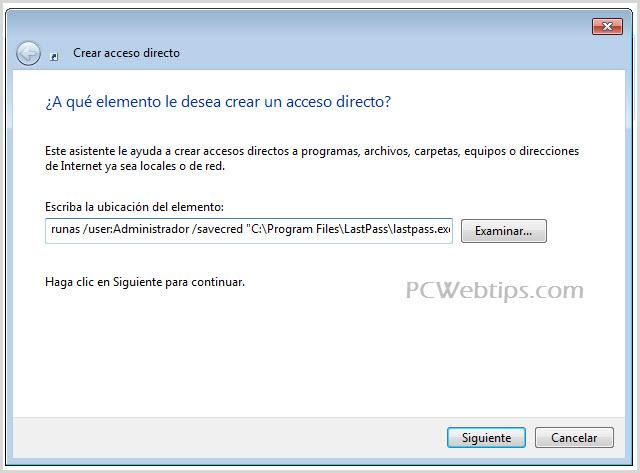 Como ejecutar programas como administrador sin pedir permiso   PCWebtips