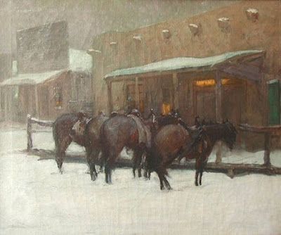 """Winter Evening (Taos)"""