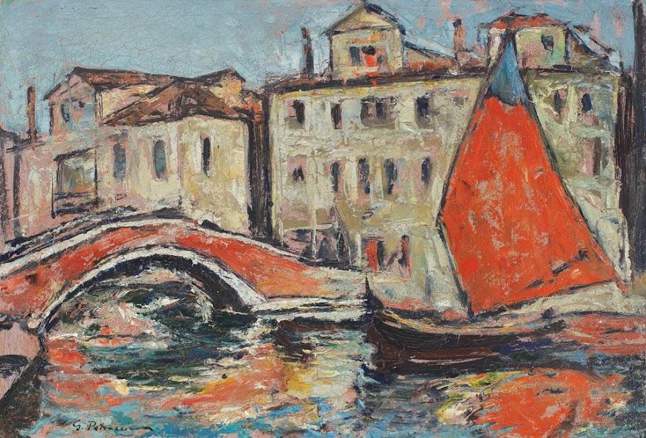 Gheorghe Petrașcu - Vedere în portul Chioggia