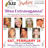 Seven of the area's top female vocalists - Holly Shelton, Kathy Lyon, Kitt Lough, Rosie Butler, Erma Granat, Cynthia Domulot and Crystal Joy-Albert -- gathered to support the 2009 Pensacola JazzFest. Backing them were the Guffman Trio and the Joe Occhipinti Big Band. The event was a great success, with standing room only and a fantastic show.