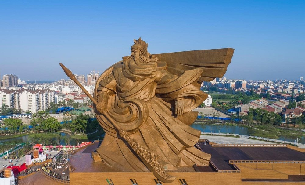 Jingzhou China  city photo : Colossal Statue of Guan Yu in Jingzhou | Amusing Planet