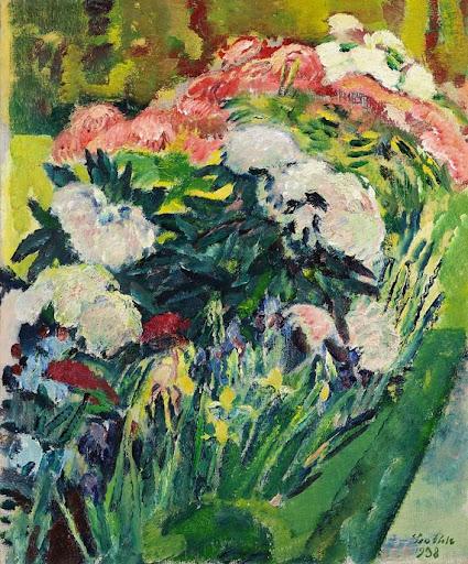 Leo Putz – Blumenbeet, 1938