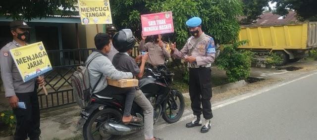 Operasi Yustisi Polsek Sipispis Jaring Warga Pelanggar Prokes