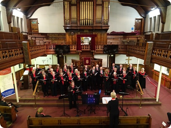 Wistaston Singers perform with Musical Director Phil Houghton on organ and Ann Farrington conducting