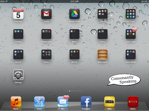 Consonantly Speaking First Screen Apps